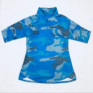 Under Armour Long Sleeve Blue Camo Zip Up